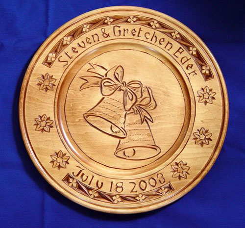 Chip carving by bill mackay anniversary plate